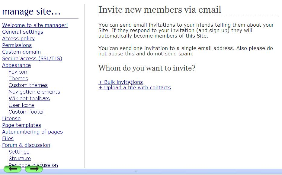 Site Manager Members Send Email Invitations  Handbook