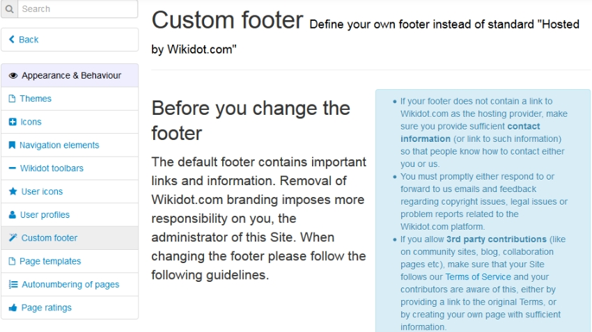 Thesis custom footer text